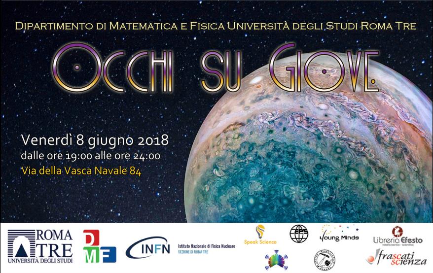 romatre fisica astrofisica astronomia giove occhisugiove roma speakscience